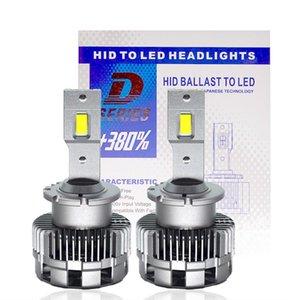 Car Headlights HIDLT 2PCS Light D2S D2R LED Headlight Kit 70W 12000LM 6000K White Headlamp Bulb Replace D2 HID Conversion Ballast