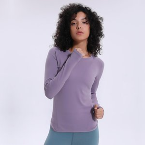 Yoga Outfits SALSPOR Solid Color Fitness Sport Shirts Blouse Women Skinny Long Sleeve Top Anti-sweat Quick Drying Seamless Tops