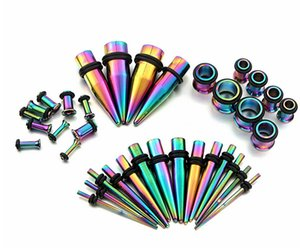 Stainless Steel 36-Piece Set Pointed Cone Ear Extender Auricle Body Piercing Popular Ornament