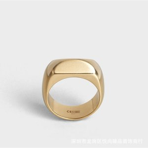 cool winter versatile Celin new wind large gold finish brass ring