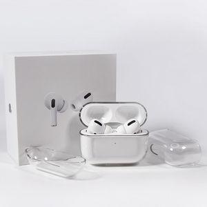 Para Airpods Pro Protective Cover Fone de ouvido Acessórios Apple Airpod 3 Bluetooth Headset conjunto Transparente PC Hard Shell Limpar