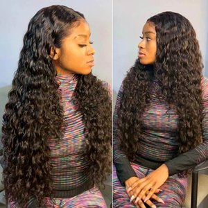Deep Wave 13x4 Lace Front Wig Malaysian Remy Closure 360Lace Frontal Wigs 150%Deep Curly Human Hair Wigss for Women