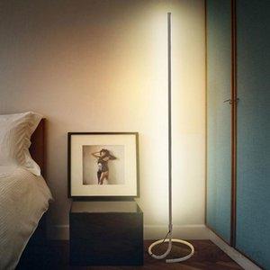 Nordic Minimalist Led Floor Lamp Modern Simple Line Vertical Standing Lamps For Living Room Bedroom El Stand Light Fixtures