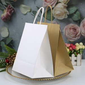 Factory Direct Sales Universal Square Bottom Kraft Paper Portable Paper Bag Promotion Kraft Paper Bag High-End Gift Handbag Customization