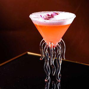 Creative Aquarium 3D Meduse Moleculari Cocktail Bicchiere da cocktail per Bar Nightclub Party Scalefono Octopus Alviero Martini Bicchieri da vino Coppa X0703