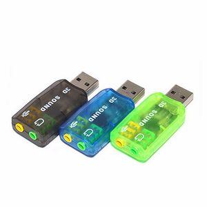 Внешний USB 2.0 Виртуальный 5.1-канальный Адаптер звуковой карты с проводом для ноутбука PC Mac