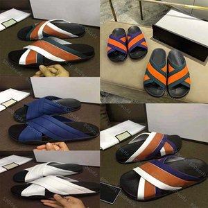 Lüks Düz Sandalet Tasarım Nakış Siyah Terlik Sığ Plaj Eğlence Kapalı Dantel Kilit Kutusu Tam Aksesuarları Seti 35-44 shoe008 1301