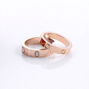 2021 Designer for Woman Ring Zirconia Engagement Titanium Steel Love Wedding Rings Rose Gold Silver Fashion jewelry Gifts Women Men Accessories