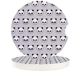 Table Runner Cartoon Panda Car Coasters Set Heat Resistant Placemats Drink Mat Tea Coffee Cup Pad Waterproof Creative Decor