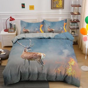 Bedding Sets Arrival Deer Printing Luxury Set Animal Duvet Cover With Pillowcase Queen King Single Size Bed Customize Images