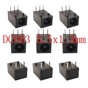 wholesale BNC Connector Sent At Random 10Pcs DC-003 3.5x1.3mm DC Power Jack Socket Supply 3 Pin Panel Mount Plug Needle 1.3mm DC003 3.5*1.3 mm