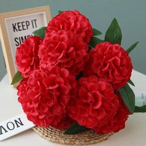 웨딩 내구성 10 헤드 가든 가짜 수국 테이블 천으로 시뮬레이션 파티 수제 홈 장식 인공 꽃 거실 장식