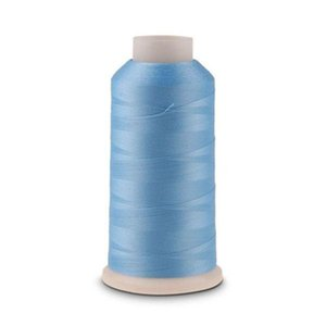 Yarn 3000 Yards Spool Luminous Glow In The Dark Machine Embroidery Sewing Thread (Sky Blue)