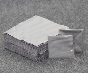 마이크로 화이버 안경 시계 렌즈 용 옷을 청소하는 옷감 14.5 x 14.5cm 그레이 벌크 독립 포장