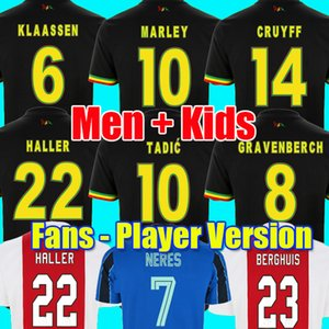 21 22 Bob Marley TADIC BERGHUIS GRAVENBERCH Camisa de futebol Amsterdam KUDUS BLIND PROMES HALLER NERES CRUYFF KLAASSEN 2021 2022 AJAX masculino crianças kit camisa de futebol