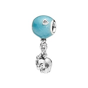 925 Sterling Silber Elefant und Rosa Ballon Baumeln Charme Fit Original Europäischen Charme Armband Modeschmuck Zubehör 110 T2