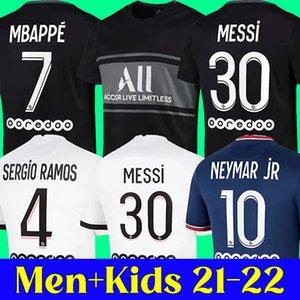 21 22 MESSI PSG soccer jersey 2021 2022 PARIS Saint Germain football shirt NEYMAR JR MBAPPE SERGIO RAMOS HAKIMI ICARDI  men and kids kits
