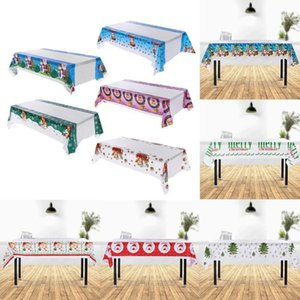 Disposable Table Covers Christmas Tablecloth Kitchen Dining Decorations Rectangular For Year