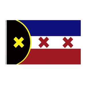 Banderas de la nación de Manberg banners 3x5ft poliéster diseño 150x90cm Indicador de impresión digital con dos ojales de latón GWA4344
