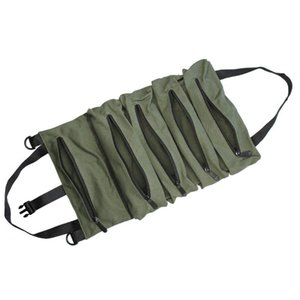 Car Organizer Tool Bag Multi-Purpose Roll Wrench Pouch Hanging Zipper Carrier Tote Working