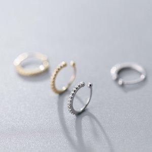 1pc Polsino dell'orecchio di 1pc, conchiglia delicata Huggie cz bracciale orecchio non forato cz orecchio polsino nose anello gioielli moda 781 R2