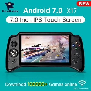 Jugadores de juegos portátiles Powkiddy X17 Android 7.0 Consola de mano 7 pulgadas IPS Pantalla táctil MTK 8163 Quad Core 2G RAM 32G ROM Retro PS1
