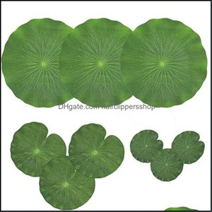 Decorations Aquariums Pet Supplies Home & Gardenpack Of 9 Artificial Floating Foam Lotus Leaves Water Lily Pads Ornaments Green | Perfect Fo