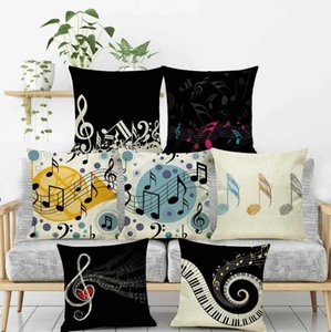 The Piano Notes Theme Pillow Case 17 Styles Digital Printed Pillowcase Music Note Jazzy Decoration Pillows Liene Cushion Cover
