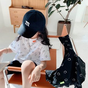 T-shirts Childrens Girls Tops Summer Cotton Cartoon Boys Shirts Letter Short Sleeve Tees Casual Kids Baby Clothes Clothing Wear 2T 3 4 5 6Y B4576