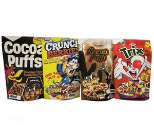 Toasted Rice Cereal mylar bags Edible Gummies Bag Trips Ahoy Canna Butter Brownie Bites Stoneo cookies Stock sale