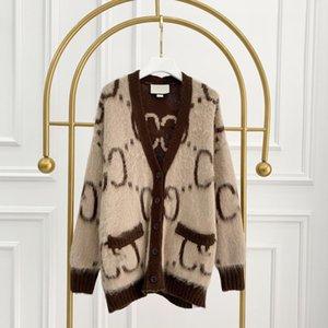 309 2021 Sommermarke Gleiche Stil Pullover Langarm V-Ausschnitt Cardigan Frauen Kleidung Xue