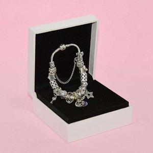 Mode Charm Perle Armband für Pandora Schmuck Silber Sterne Mond Anhänger Perlen Dame Armband mit Original Box Geburtstagsgeschenk