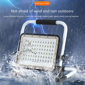Led Floodlights Portable Rechargeable Flood 100W Outdoor Emergency Lighting Waterproof Night Market Stall Light