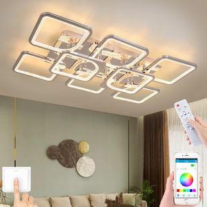 Ceiling Lights Modern LED Lamp Living Room Chandelier Bedroom Lighting Apartment El Interior APP RC Dimming
