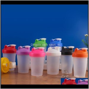 400Ml Sports Bottle Shaker Mixer Bottle Plastic Shaker Bottle Sports Fitness Leakproof Shaker Water Bottles Kka7011-1 Obibk Wozbt