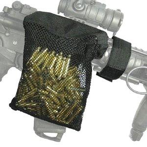Captador de latão tático coletor de nylon malha de nylon saco de rede de coletor com zippered fundo para descarga rápida AR acessórios Airsoft