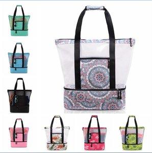 Storage Bag Summer Portable Mesh Picnic Beach Bags Family Organization Sacks Home Storages 16 Kinds of Color GWA8144