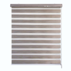 Kingmond 100% Blackout Privacy Protection Customized Size Window Zebra Blinds for Home Office Studio