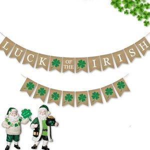 1 Set Luck of the Irish St. Patrick's Day Hanging Streamer Party Decoration Mabula Flag Festival Banner