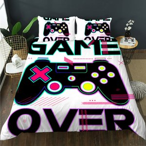 Spring cool game console handle 3D design bedroom bedding textile super dense plus soft boys Multi Size Duvet suit with quilt cover and pillow case twin full queen king