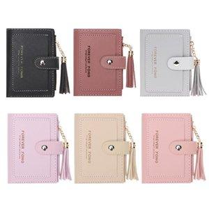 Wallets Fashion Women Folded Short Zipper Wallet Tassels Hasp Small For Girl Female Mini Handbag Coin Purse Card Holder
