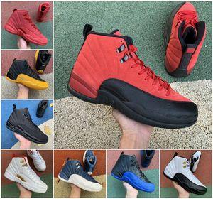 2021 أحذية رجالي كرة السلة 12S جامعة الذهب عكس الانفلونزا لعبة الملكية الظلام كونكورد تاكسي أوفو الأبيض الريوت 12 مباراة فاصلة الفرنسية الأزرق أحذية B11
