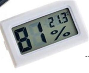 جديد أسود / أبيض صغير الرقمية LCD بيئة ميزان الحرارة الرطوبة الرطوبة متر في الغرفة الثلاجة الثلاجة icebox DHD5661