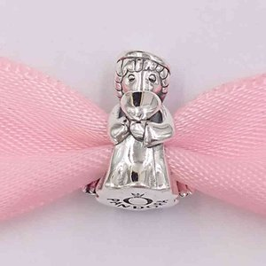 Authentic 925 Sterling Silver Beads Angel Of Love Charm Charms Fits European Pandora Style Jewelry Bracelets & Necklace 798413C00