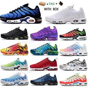 2021 tn plus running shoes Green black White Volt Glow rainbow Hyper Pastel blue Oreo men women Breathable sneaker trainer outdoor sport fashion #986
