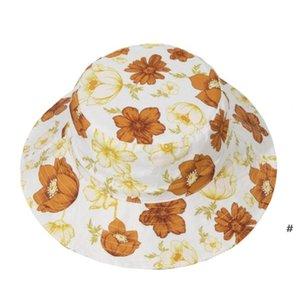Baby Girls Fisherman Hats Spring Summer Infant Children Versatile Fisherman Hats Cute Flowers Printing Hats Newborn Fashion Hat OWC6965