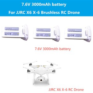 2pcs or 3pcs battery 7.6V 3000mAh battery for JJRC X6 WIFI FPV RC Drone spare parts JJRC X6 X-6 Accessories X6 Battery
