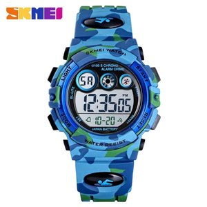 Moment beauty skmei camouflage colorful light sports waterproof children's gift table student electronic watch