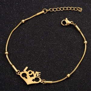 Love Bracelets For Women Stainless Steel Gold Chain Braclets On The Hand Charm Couple Heart Bracelet Gifts Woman Accessories Link,