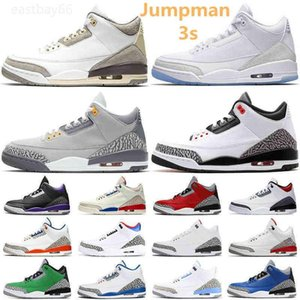 Top Quality Jumpman 3s Basketball Shoes 3 Midnight Navy Racer Blue Fragment Court Purple Cool Grey UNC Tinker Mens Sports Trainers Sneakers